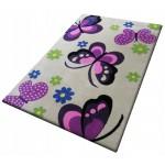 Vaikiškas kilimėlis  kreminis 133x190 drugeliai