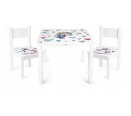Vaikų stalas + 2 kėdės Vienaragis
