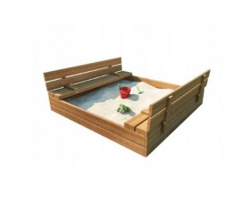 Medinė smėlio dėžė 120x120 cm