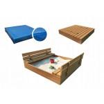 Medinė smėlio dėžė 140x140 cm