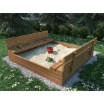Medinė smėlio dėžė 180x180 cm