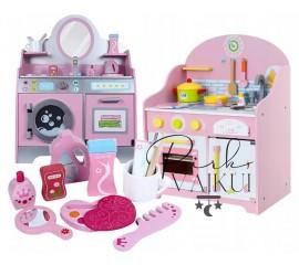 Medinė virtuvė + Kosmetinis staliukas