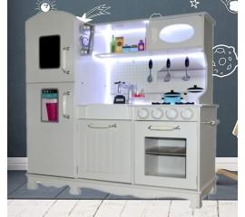 Medinė virtuvė Vintage su LED ir Garsais