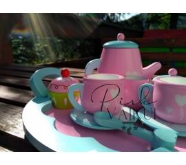 Medinis kavos/arbatos rinkinys su padėklu