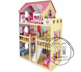 Didelis medinis lėlių namas Fantazija