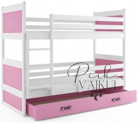 Dviaukštė lova RICO balta