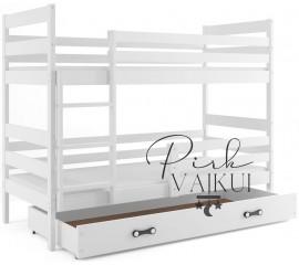 Dviaukštė lova ERYK balta