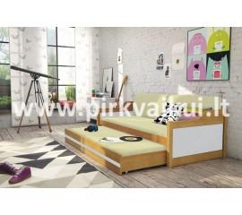 Dvivietė ištraukiama lova DAWID alksnis