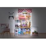 Medinis lėlių namas su LED apšvietimu