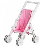 Medinis lėlių vežimėlis - stumdukas