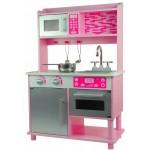 Medinė virtuvė su orkaite