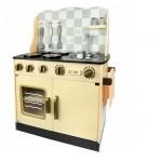 Medinė virtuvė Ema su indais