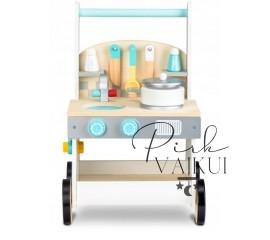 Medinė virtuvė-stumdukas Mažylis
